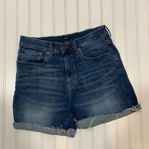 J.Crew dark wash denim shorts